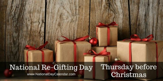 National Re-Gifting Day banner
