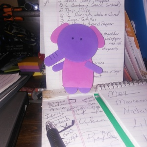 Mister Elephant on the desk