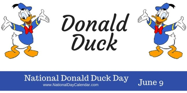National Donald Duck Day banner