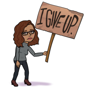 I Give Up Bitmoji