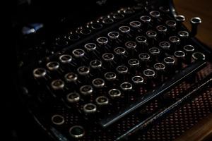 old fashioned manual typewriter