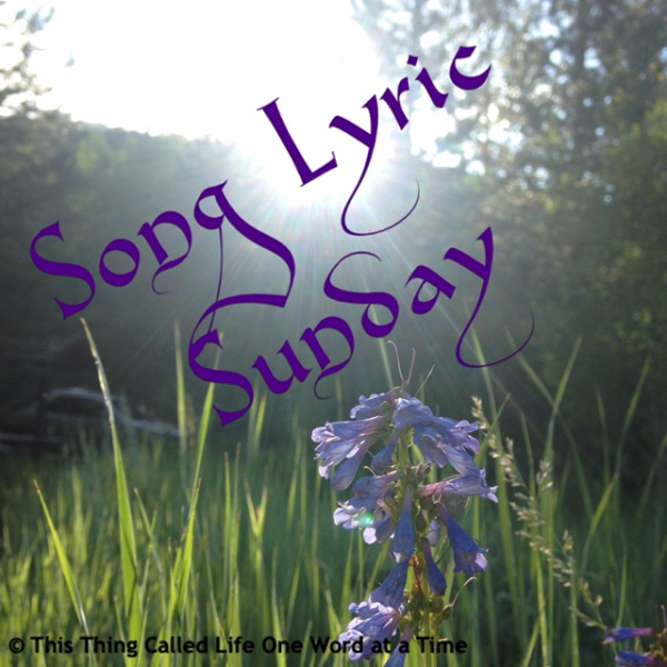 Song Lyric Sunday banner