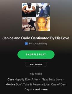 Spotify playlist block