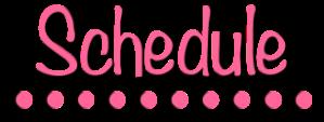 Schedule banner